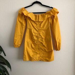 Yellow Tulorosa off the shoulder dress XS